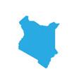 map of kenya high detailed map - kenya vector image vector image