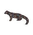 marten wildlife color silhouette animal vector image vector image