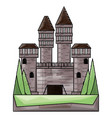 medieval castle icon image vector image
