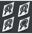 Monochrome awards sticker set vector image vector image