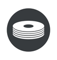 Monochrome round disc pile icon vector image vector image