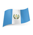 National flag of guatemala white stripe with coat vector image