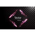 Neon square banner isolated vector image