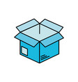 open box to delivery innovation vector image vector image