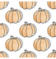 pattern with pumpkins vector image vector image
