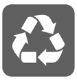 Recycle Flat Squared Icon vector image vector image