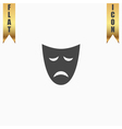 Sadness mask flat icon vector image vector image