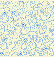 seamless pattern of cute cartoon cats curls lines vector image vector image