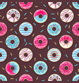 seamless pattern with colorful sweet donuts vector image vector image