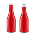 set of blank glass red tomato ketchup vector image vector image