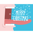 Shouts winter Man shouting Merry Christmas Open vector image vector image