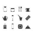Silhouette restaurant and bar icons vector image vector image
