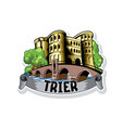 sketch city trier in germany cityscape vector image