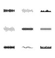 Sound icons set simple style vector image