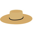 Straw hat vector image vector image