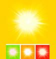 summer sun starburst vector image vector image