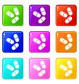 three pills icons 9 set vector image vector image