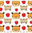 tigers and apples background vector image