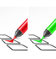 voting check mark two color vector image