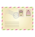 wedding envelope vector image