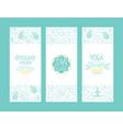 yoga ayurvedic medicine studio banner templates vector image vector image