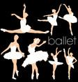 ballet silhouettes set vector image