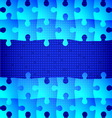Blue puzzle background vector image