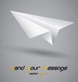 paper plane vector image