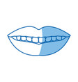 femlae mouth lips teeth smile vector image