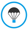 Parachute Flat Icon vector image