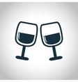 2 wine glasses icon vector image vector image