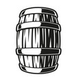 a barrel beer vector image vector image