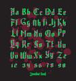 acid zombie gothic font set vector image