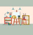 art drawing design studio furniture creative vector image vector image