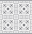 azulejos seamless pattern gray portuguese vector image vector image