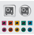 bank safe vector image vector image