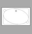 Bath Plan vector image vector image