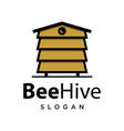 bee hive logo design vector image