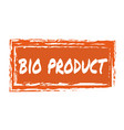 bio product hand drawn isolated label vector image vector image