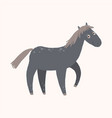 black funny horse farm animal cartoon vector image