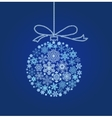 Blue Christmas ball vector image vector image