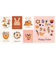 boho easter concept design greeting cards with vector image vector image