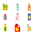 bottles with cleaning chemical products vector image