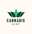 cannabis leaf logo template logo vector image vector image