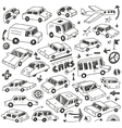cars doodles set vector image