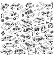 cars doodles set vector image