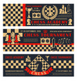 chess academy game open tournament vector image vector image