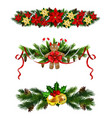 christmas fir decoration isolated vector image