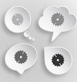 Circ saw White flat buttons on gray background vector image vector image
