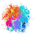 color background of paint splashes vector image vector image